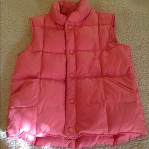 Girls Pink Lands Ends Vest